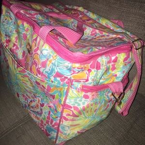 Large Lily Pulitzer cooler tote